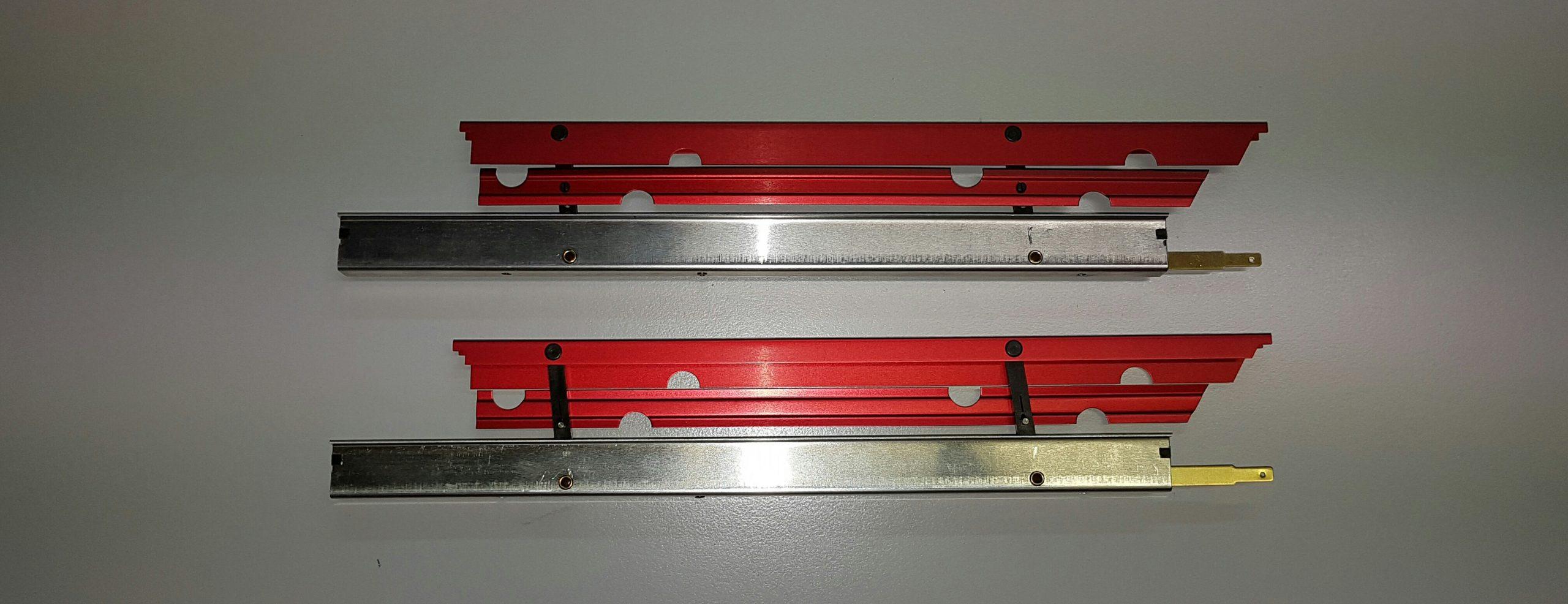 Landeklappen Fingerle 250/16 mm, MPX innen angelenkt/rot