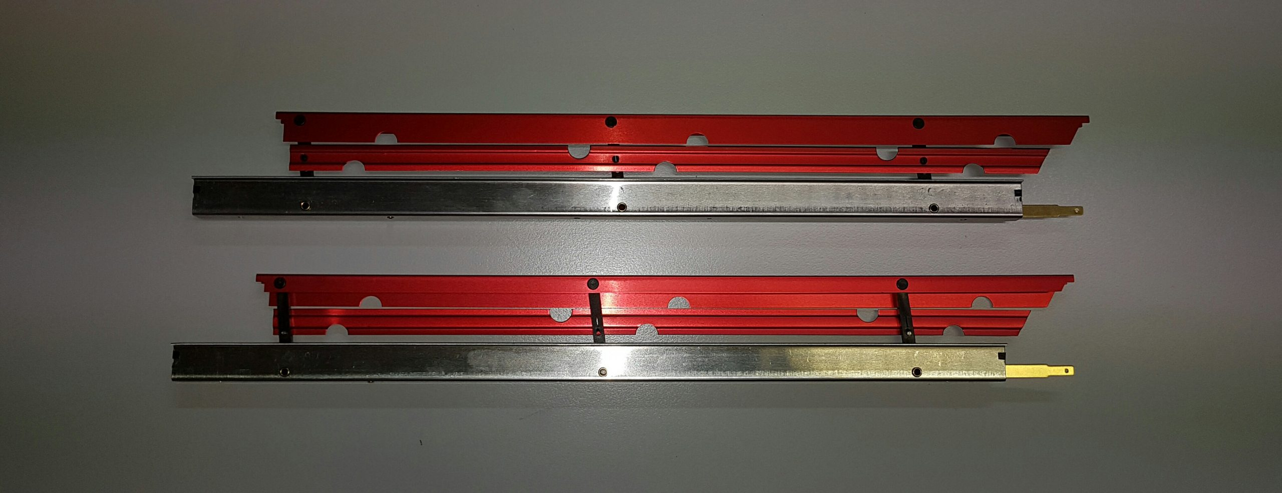 Aérofreins Fingerle 370/16 mm, double/rouge